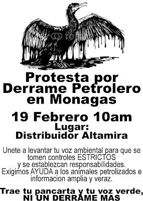 Protesta en Caracas Distribuidor Altamira por derrame petrolero en Reserva Forestal Guarapiche